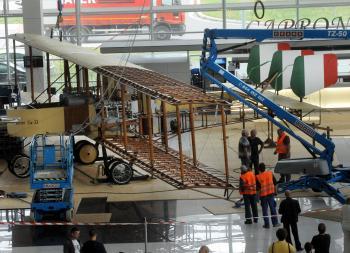 Štefánikovo lietadlo Caproni - replika