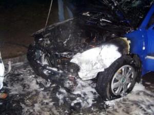 Auto horelo - ilustračné foto