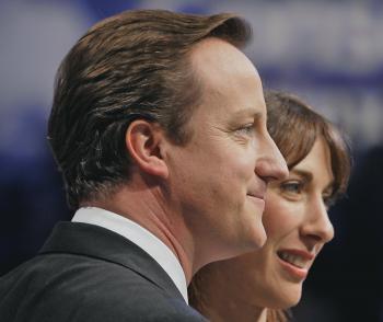 Cameron s manželkou