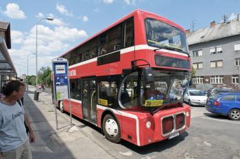 Dvojpodlažný autobus v Nitre