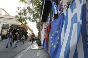 Grécko EU vlajky