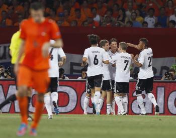 Nemci oslavujú gól