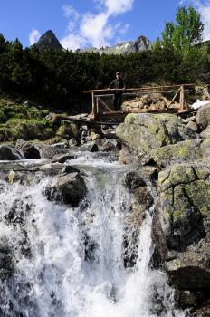 Horský potok v Mengusovskej doline