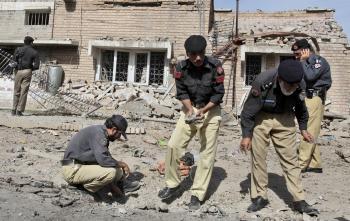 Pakistanskí vojaci po tragédii