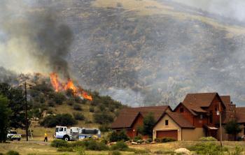Požiarom spustošené kopce v Colorade