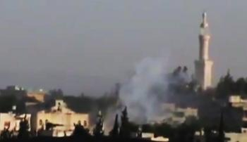 mínometná paľba v Sýrii