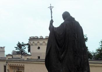papez v Nitre - socha