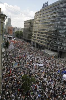 protiputinovská demonštrácia