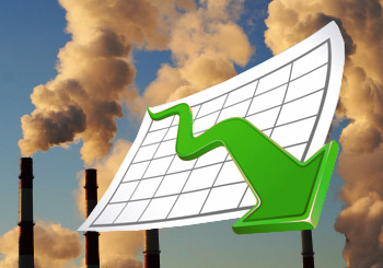 skleníkové emisie klesli