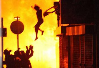 Únik pred ohňom - ilustračné foto
