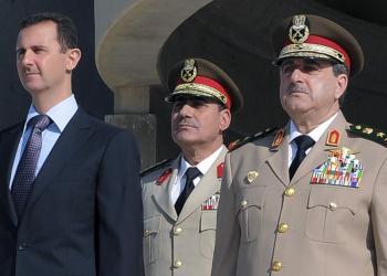 Bašar Asad, prezident Sýrie (vľavo) a zosnulý generál Daúd Radžá (vpravo)