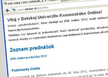 Detská univerzita UK funguje aj na internete