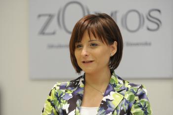Gabriela Česlová z výboru OZ Nová voľba