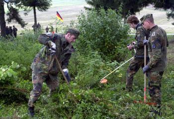Obnova cintorína z prvej svetovej vojny sa realizovala v spolupráci nemeckých a slovenských vojakov