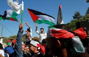 Palestínčania oslavujú uznanie nezávislej Palestíny prvým západným štátom - Islandom