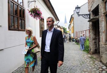 Primátor Košíc Richard Raši s viceprimátorkou Renátou Lenártovou