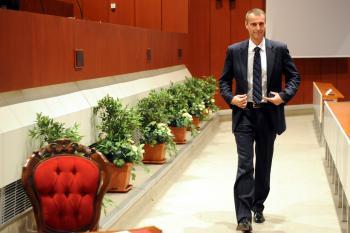 Richard Raši počas rokovania košického mestkého zastupiteľstva