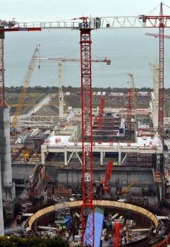 Stavenisko reaktora v Normandii realizované francúzskou energetickou spoločnosťou