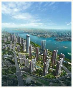 Wuhan z vtáčej perspektívy