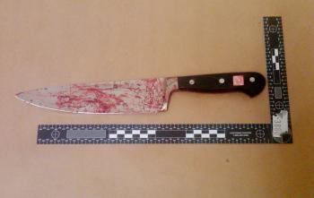 Zakrvavený kuchynský nôž - ilustračné foto