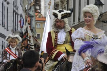 Bratislavské korunovačné slávnosti pri príležitosti 270-teho výročia vyhlásenia Márie Terézie za uhorsk kráľovnú