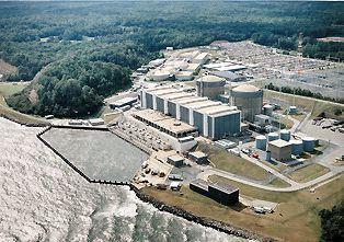 Jadrová elektráreň v Calvert Cliffs (USA) s dvoma blokmi jadrových reaktorov