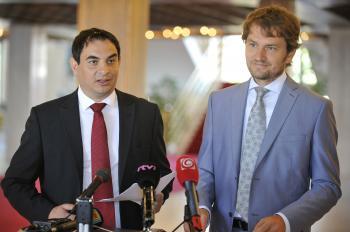 Peter Pollák a Igor Matovič z OĽaNO