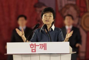 Prezidentská kandidátka vládnucej juhokórejskej konzervatívnej strany Pak Kun-hje