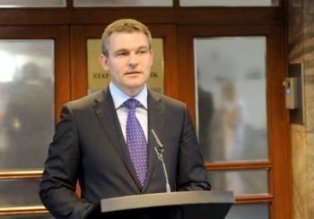 Rozpočet predstavoval štátny tajomník ministerstva financií SR Peter Pellegrini