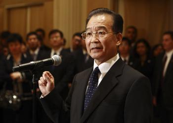 Wen Ťia-pao, premiér Čínskej ľudovej republiky, najbližšieho spojenca KĽDR