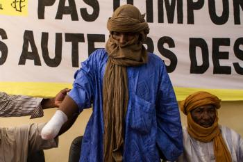 Alhader Ag  Almahmoud, 30-ročný Tuarég sa stal obeťou nového uplatňovania práva v podaní islamistov