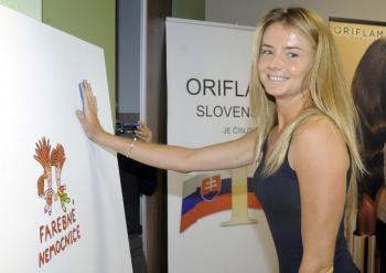 Charitatívny projekt Farebné nemocnice prišla podporiť aj slovenská tenistka Daniela Hantuchová
