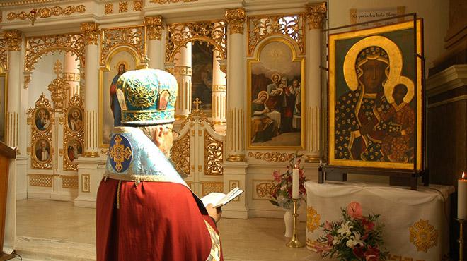 Czenstochowska Matka Božia opúšťa Slovensko návštevami chrámov byzantského obradu