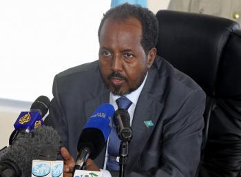 Nový somálsky prezident Hasan Šajch Mahamúd