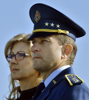 Nový veliteľ VzS OS Miroslav Korba s manželkou Kvetoslavou