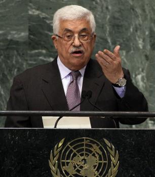Palestínsky prezident Mahmúd Abbás počas prejavu