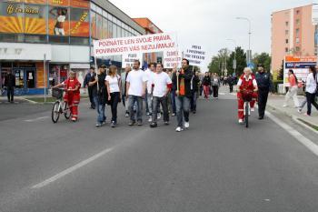 Pochod sa uskutočnil na popud občianskej iniciatívy Daj stop asociálom v tvojom meste!