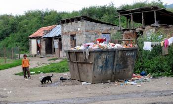 Rómska osada v Ostrovanoch