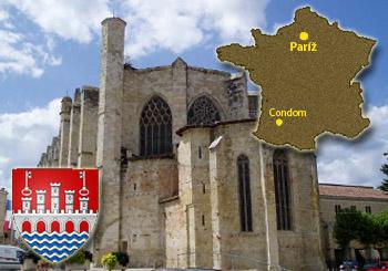Starobylá gotická katedrála v meste juhofrancúzskom meste Condom