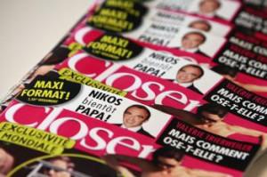 Výtlačky francúzskeho bulvárneho magazínu Closer
