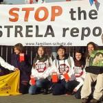 Pred europarlamentom v Bruseli sa konalo protestné zhromaždenie proti prijatiu správy Estrela