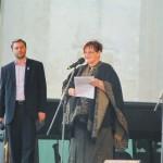 Predsedníčka Fóra života Marcela Dobešová na Pochode za život v Prešove