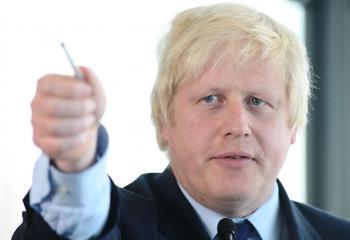 Na snímke Boris Johnso