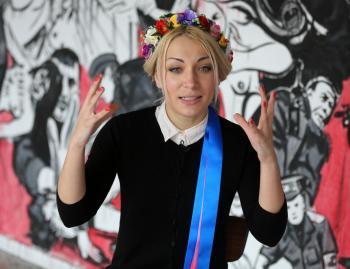 Aktivistka ženskej organizácie Femen Inna Ševčenková
