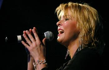 Na snímke česká speváčka Iveta Bartošová