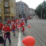 Účastníci pochodu Hrdí na rodinu