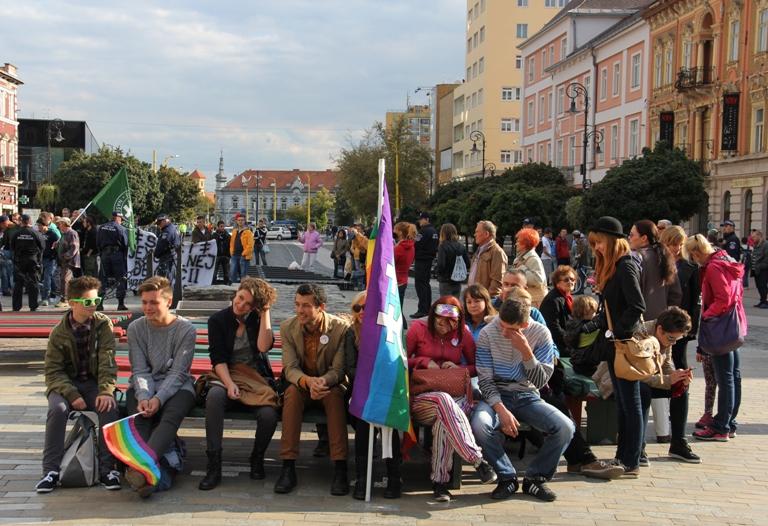 Účastníci Pride Košice 2013