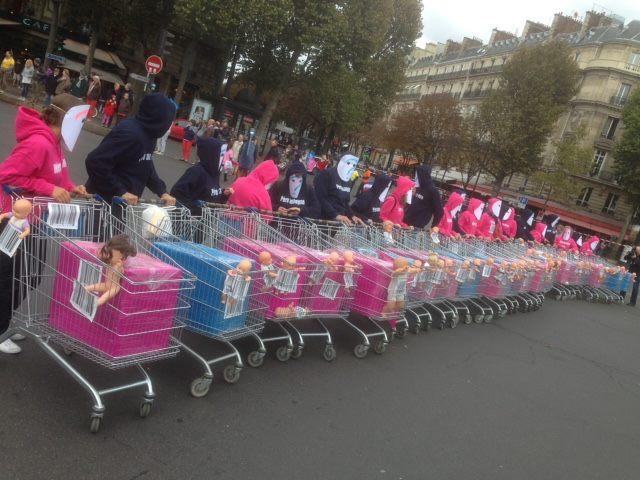 Demonštrácia vo Francúzsku