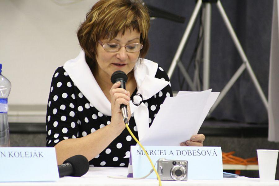 Na snímke Marcela Dobešová