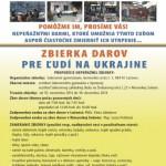 Na snímke platát zbierky darov pre ľudí na Ukrajine
